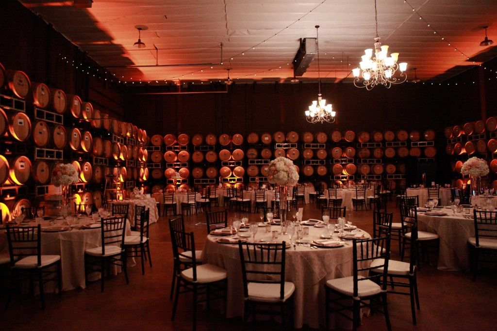 Love the wine barrel room for the wedding reception