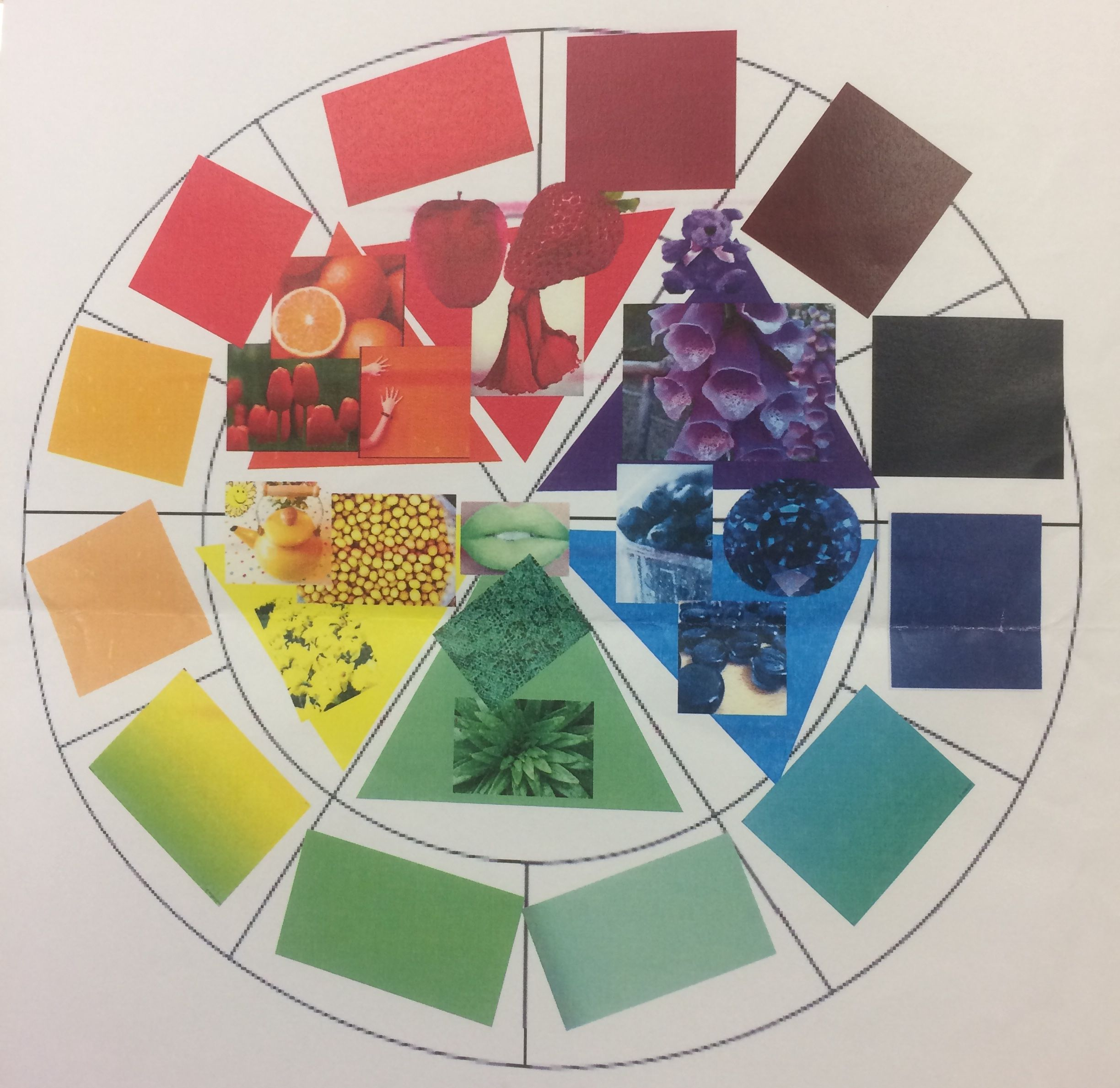 Aline Collage Colour Wheel Homework Task For The Y8 Fauvism