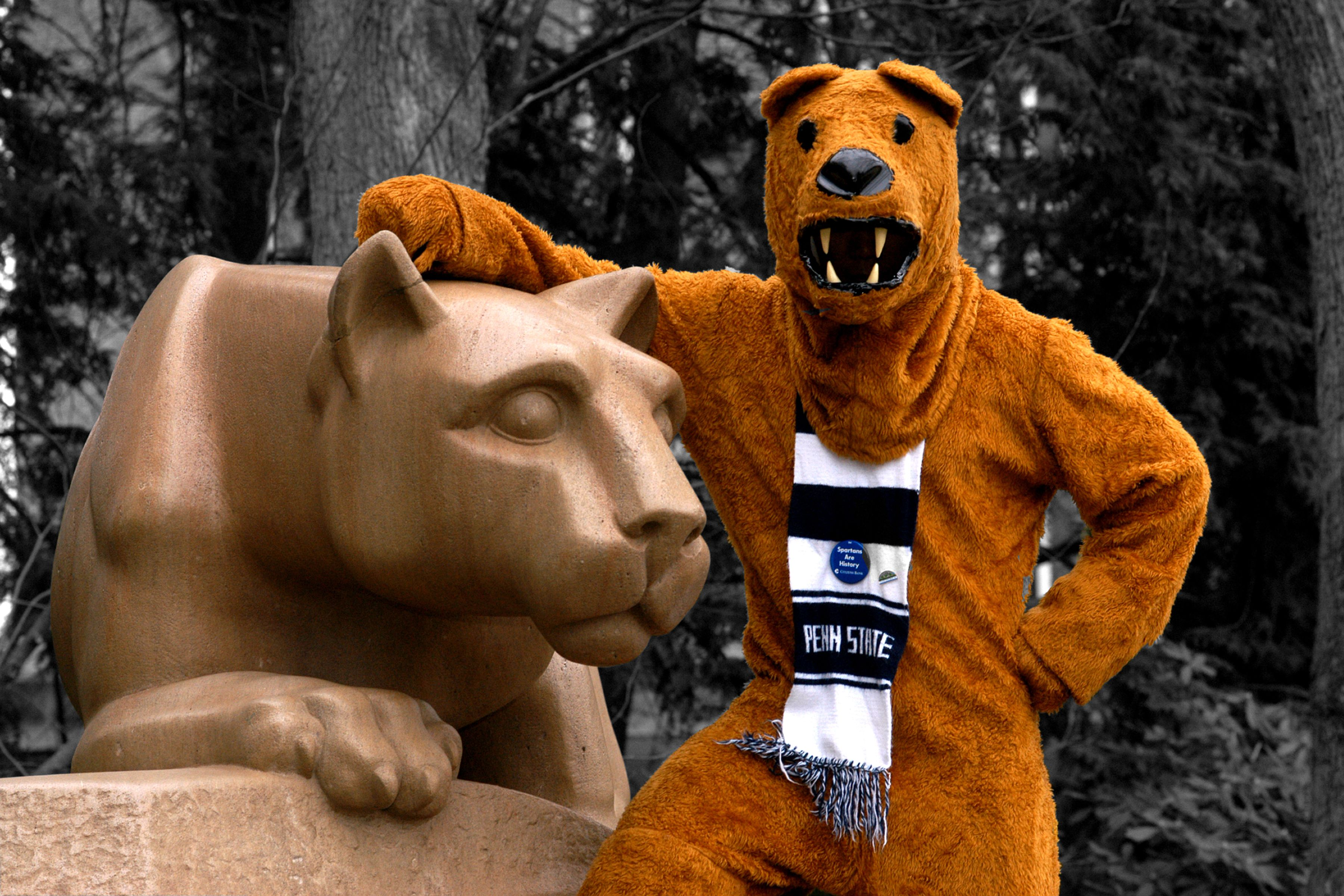 Nittany Lion With The Nittany Lion Awesome Penn State Nittany Lions Penn State Penn State University