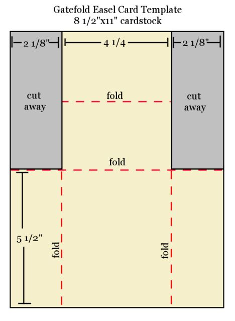 gatefold easel card template