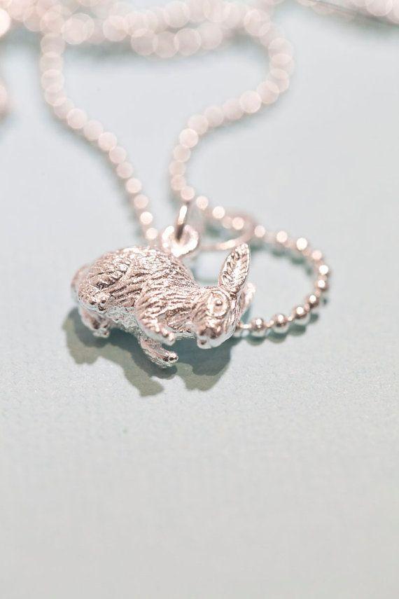 Sterling silver bunny