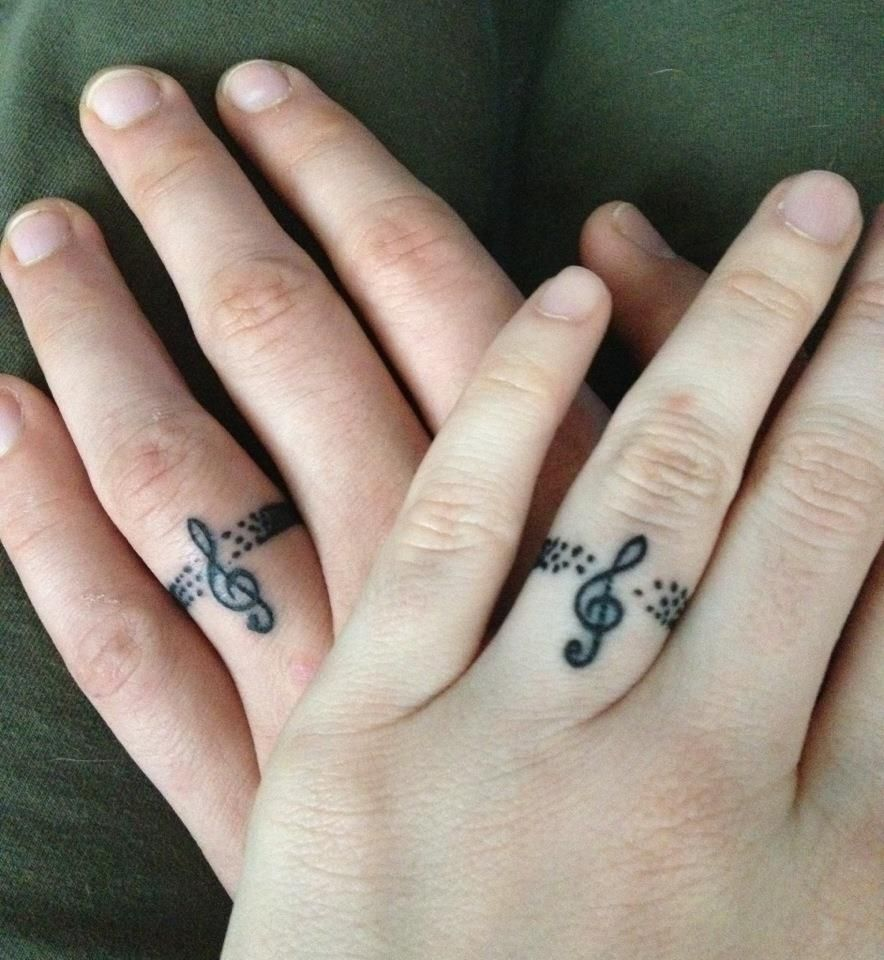Our Music Inspired Wedding Band Tattoos Music Tattoo