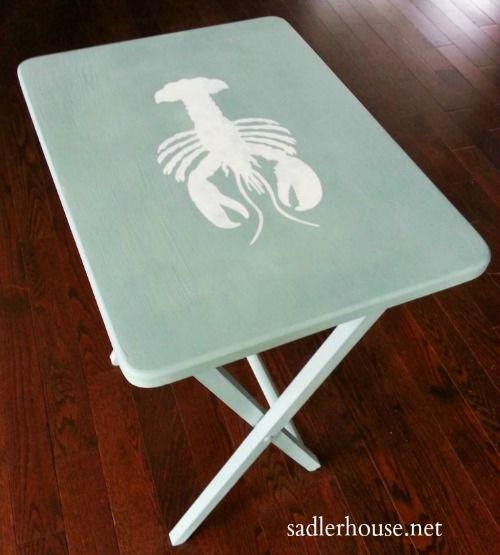Nautical Tray Table Makeover Ideas