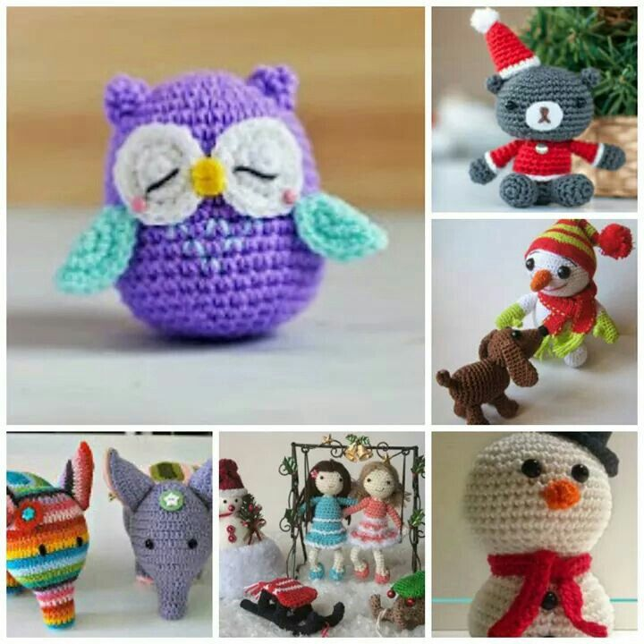 Link to 2000 Free Amigurumi Patterns  Directory with links to free Amigurumi crochet patterns.  http://greatamigurumi.blogspot.co.uk/2014/07/monsters-inc-baby-mike-and-sulley.html?m=1