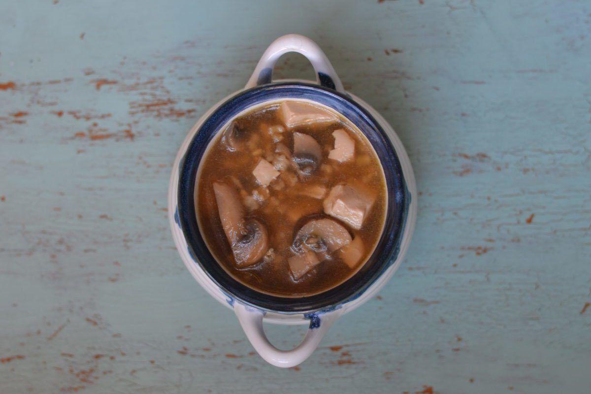 soupe, champignons, tofu. riz brun | Soupe champignon, Riz ...