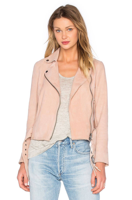 Blouson Motard Warren From Revolve Com Suede Moto Jacket Pink Leather Jacket Jackets [ 1450 x 960 Pixel ]