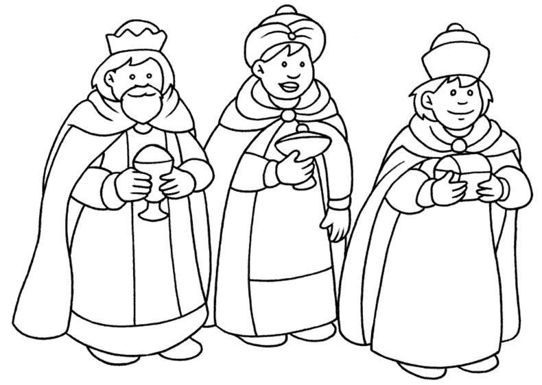 Los Reyes Magos Para Colorear Dibujos De Navidad Mago Dibujo Y