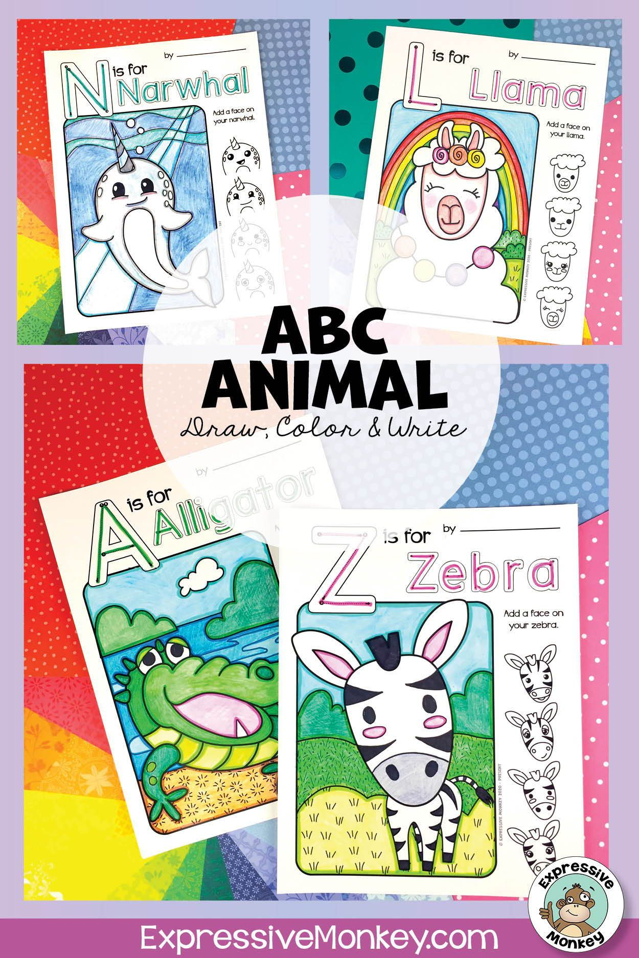 Pin On Animal Art Lessons For Kids