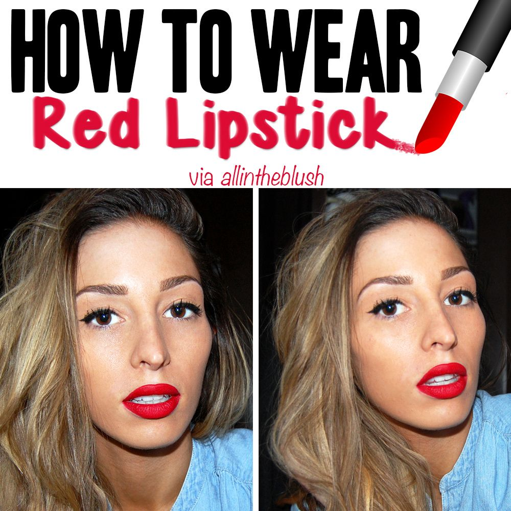 How To Wear Red Lipstick Red Lipsticks Lipstick Thin Lips