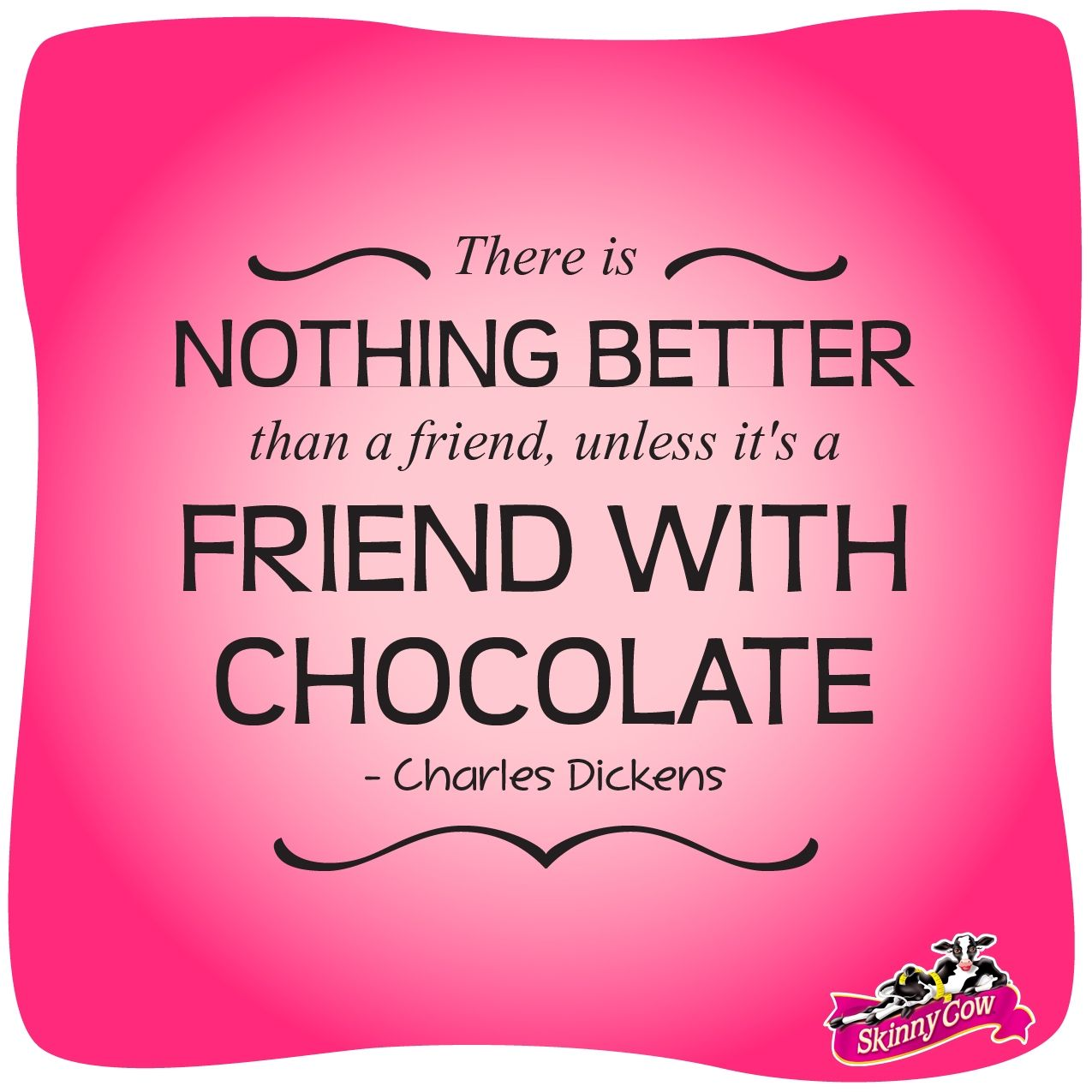 I couldn't have said it any better! #chocolate #quote #friends