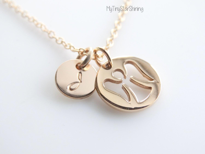 Guardian Angel Necklace Guardian Angel Charm 14k Gold necklace Mommy of an angel necklace Rememberance jewelry Miscarriage Jewelry Faith by MyTinyStarShining on Etsy https://www.etsy.com/listing/167238995/guardian-angel-necklace-guardian-angel