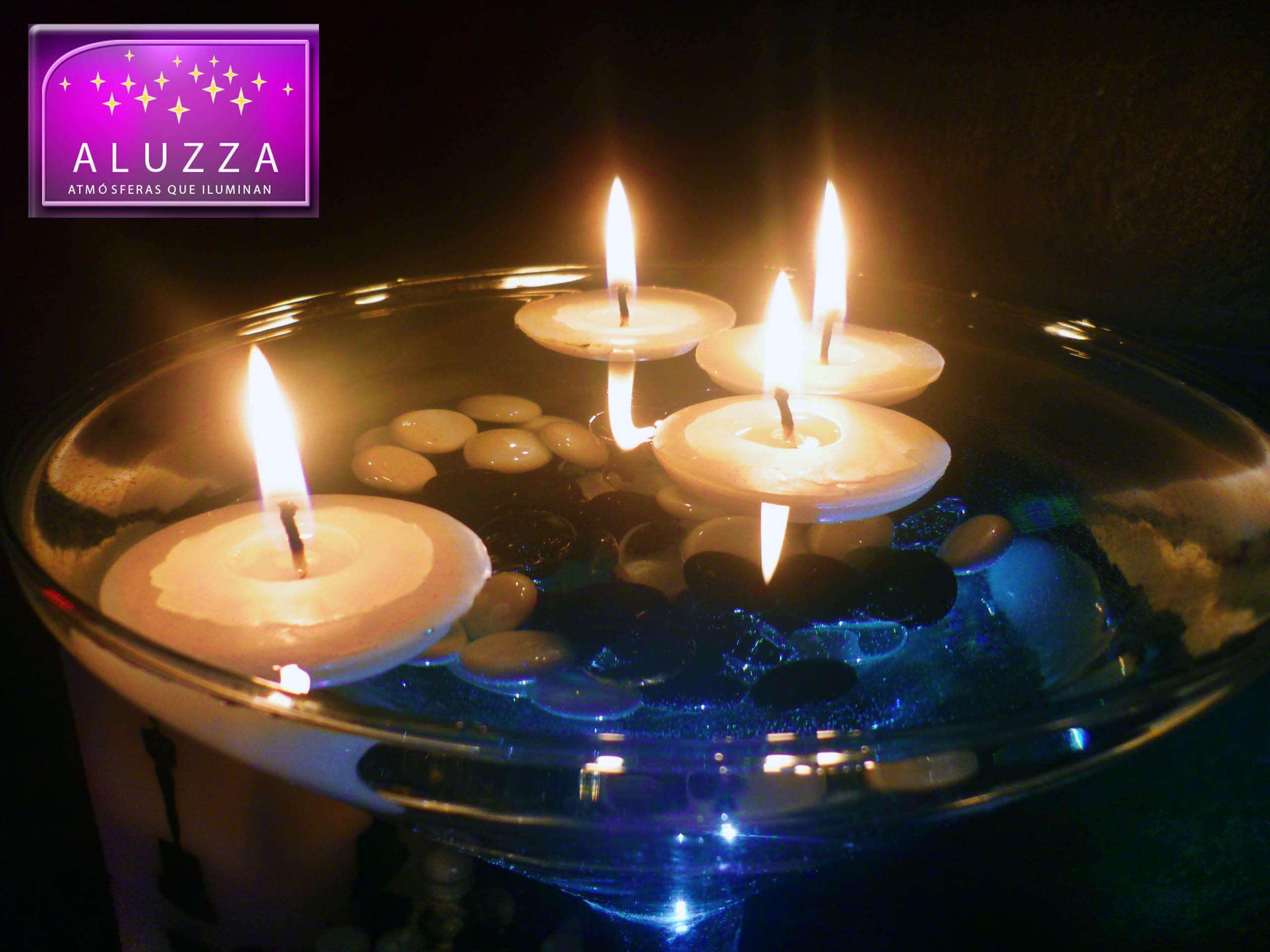 Vela flotante cookie de 5cm de diametro para centro de - Centros de mesa con velas ...
