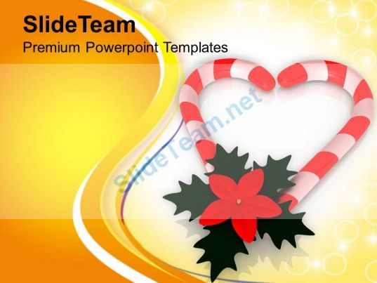 Assortment Of Best Christmas Candies PowerPoint Templates PPT Themes And Graphics 0513 Background