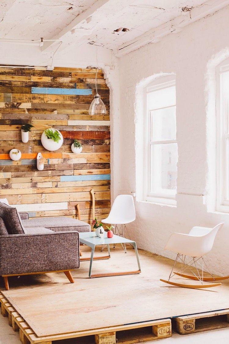 Holz Wandverkleidung Bretter Europaletten Podest Paletten