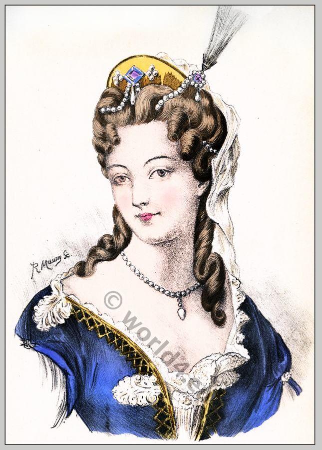 Album Of Historical Hairstyles Album De Coiffures Histories Par E Nissy Louis Xiv Duchesse Baroque