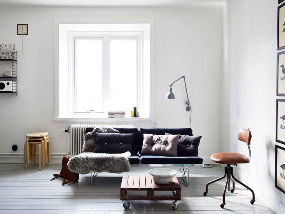 Oracle, Fox, Scandinavian, Apartment, Interior, Inspiration, White, Black, Minimalist, Interior, living