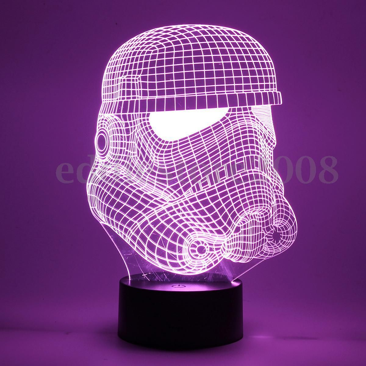 Led night light kickstarter - 3d Touch Control Led 7 Color Changing Usb Desk Table Night Light Lamp Decor