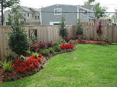 flower beds along fence line landscaping designeasy landscaping ideasbackyard