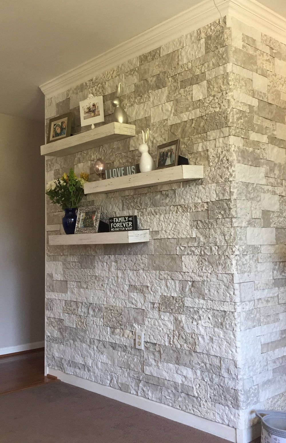 How To Install Stacked Stone Tile On Drywall Stone Walls Interior Accent Walls In Living Room Stone Accent Walls #stone #tiles #for #living #room #wall