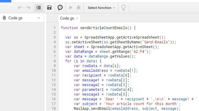 How to Send Email in a Google Sheet With Google Scripts App