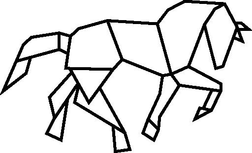 Horse Shape Of Polygonal Shapes Free Vector Icons Designed By Freepik Geometric Art Animal Geometric Elephant Geometric Animals