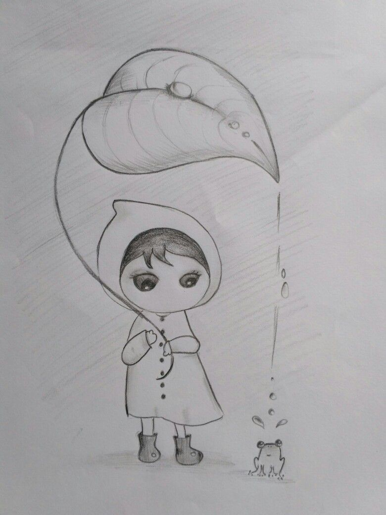 Its a rainy day🌧 simple sketch