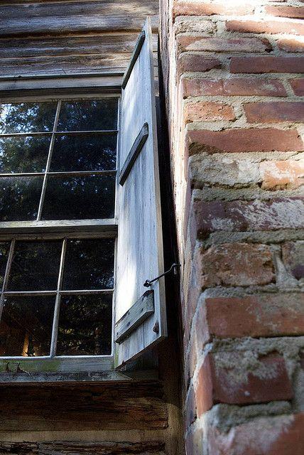 Peeking Into The Past Windows Brick And Stone Through The Window