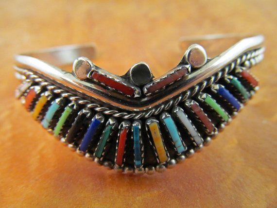 Yazzie Bird Bracelet Inlaid by TaxcoandMore on Etsy, $135.00