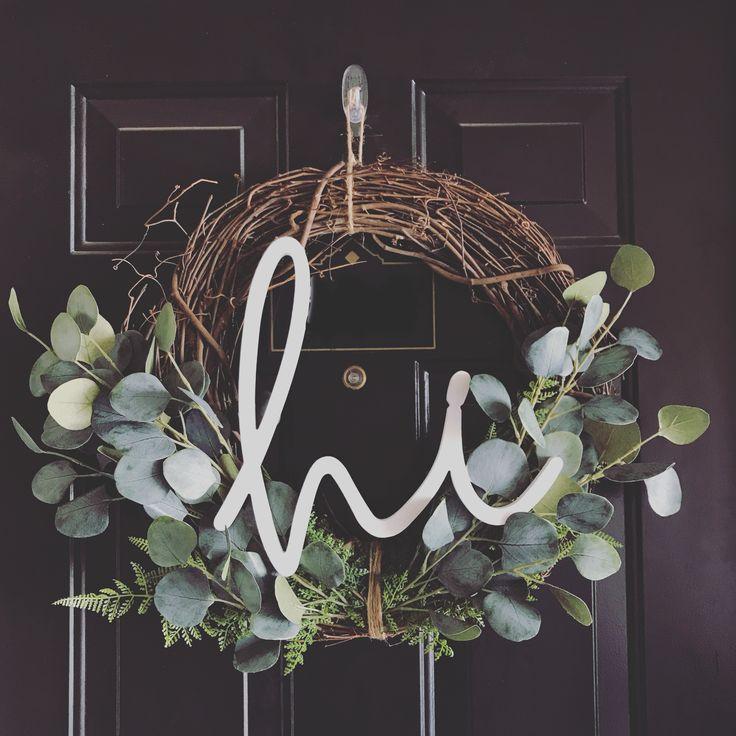 Photo of DIY hi wreath #diy #eucalyptus #frontdoor #wreath