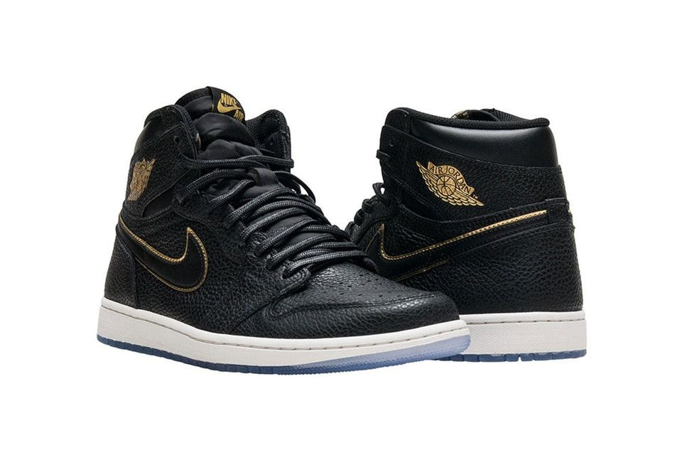 c01f408642485d Air Jordan 1 Retro High OG Kicks Off 2018 in Black   Gold
