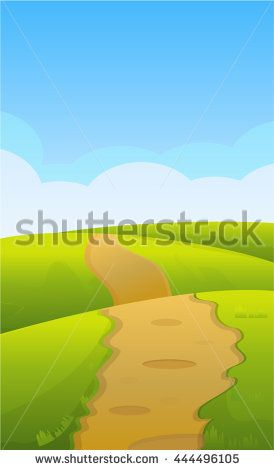 Mobile Game Landscape - stock vector