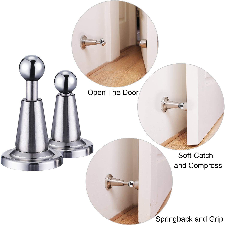 Blulu 2 Pack Softcatch Magnetic Door Holder Magnetic Doorstops Stainless Steel Wall Mount Door St Details Can Be Found By Click Door Holders Steel Wall Doors