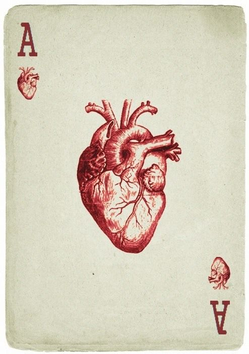 Ace of hearts | Playing Cards | Pinterest | Tattoo, Anatomy and ...