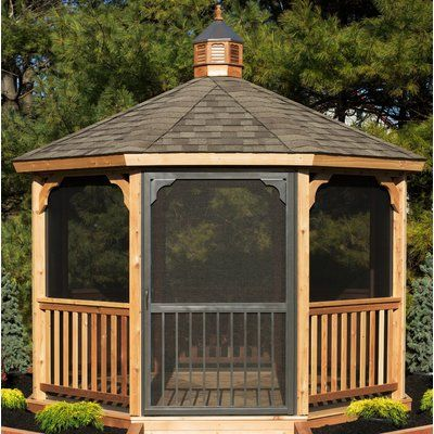 Yardcraft Screen Kit For 12 Ft Octagon Gazebo Wayfair Backyard Gazebo Patio Gazebo Gazebo