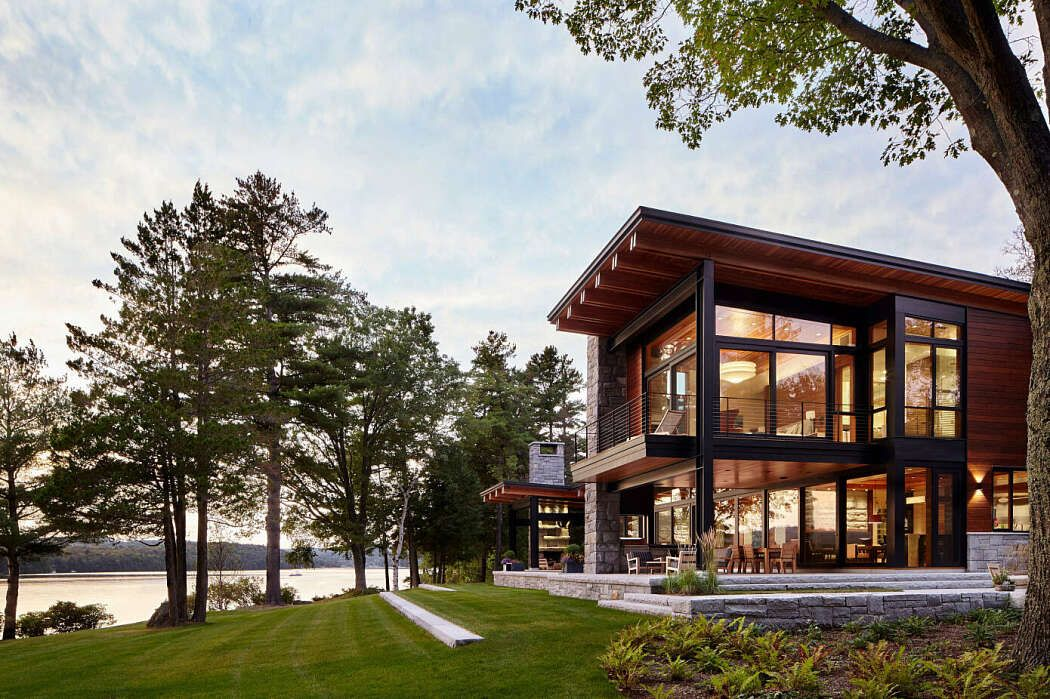 Lake Point House By Marcus Gleysteen Architects Homeadore Lake View House Plans Lake House Plans Waterfront Homes