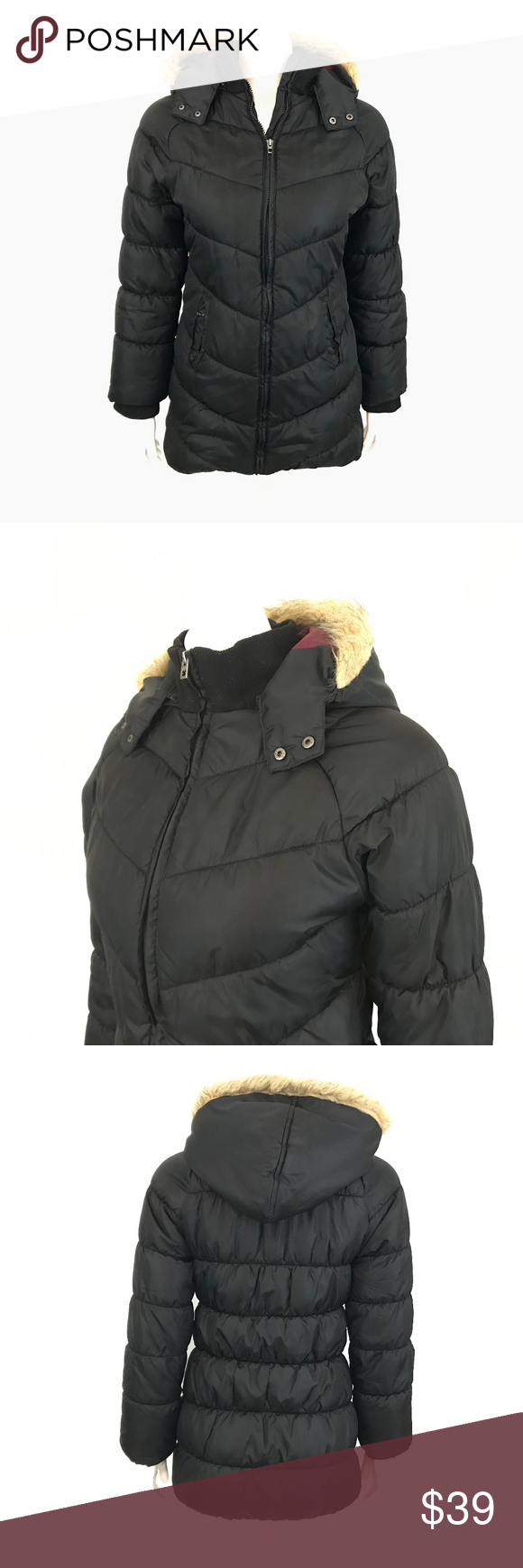 Lucky Brand Black Puffer Style Jacket Coat Hood L Lucky Brand Puffer Style Jacket Coat Women S Size L Ins With Images Black Puffer Hooded Coat Lucky Brand [ 1740 x 580 Pixel ]