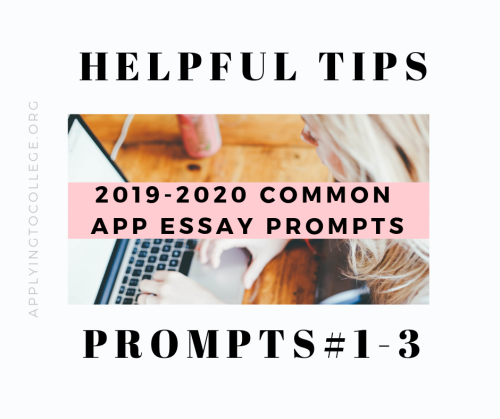 Great tips for how to write 20192020 Common Application