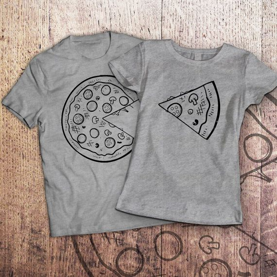 716f575b Pizza t shirt / piece of pizza / couple shirts / matching couple ...