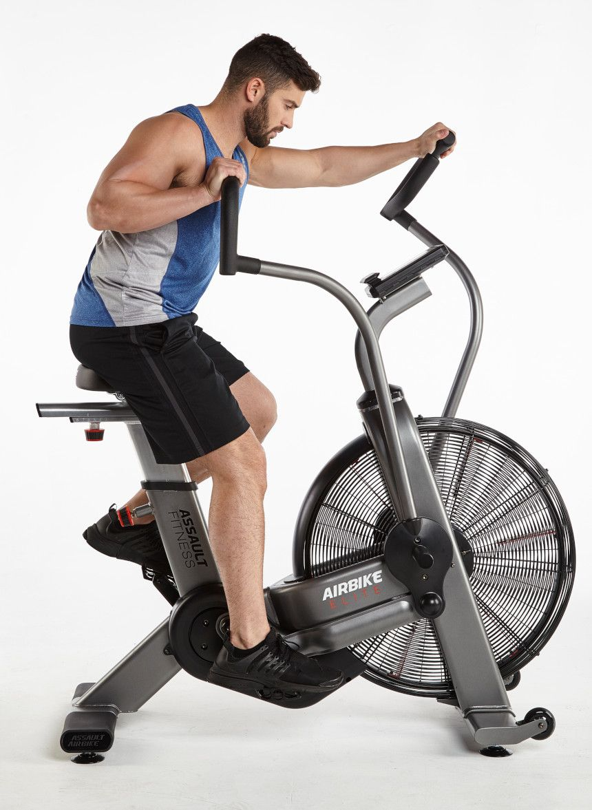 An Air Bike, such as the Assault Fitness Airbike Elite