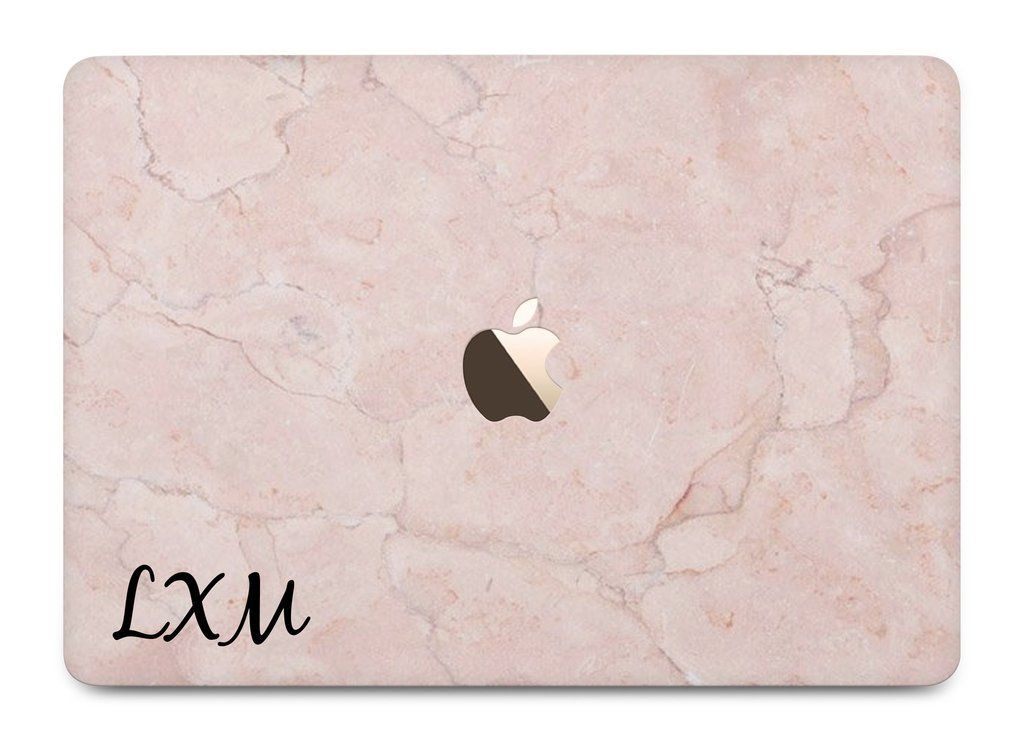 hot sale online 5073b daf52 Personalised Pink Marble Initial MacBook Case - LIVE x MAINTAIN ...