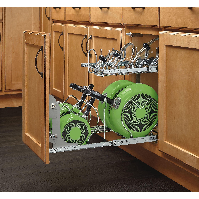 2 Tier Pull Out Kitchenware Divider Rev A Shelf Cookware Organization Cabinet Organization