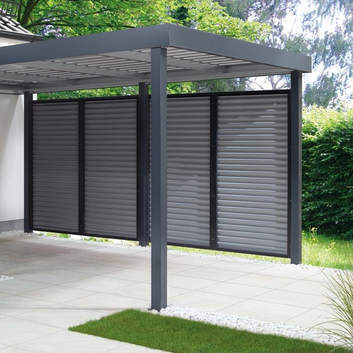 Carport von siebau in anthrazit carport pinterest for Geschlossener carport