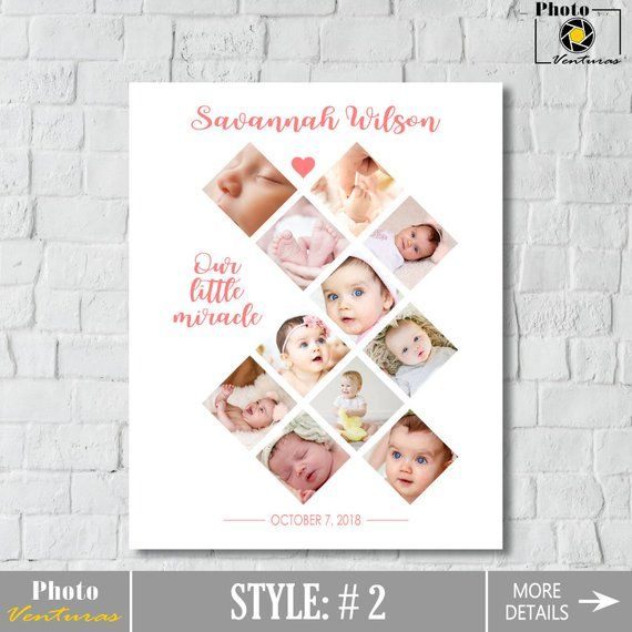 Baby S First Year Photo Collage Printable Baby Photo Collage 12 Months Collage Baby Collage 1st Birthday Collage Printable Nursery Wall Art First Birthda Regalos