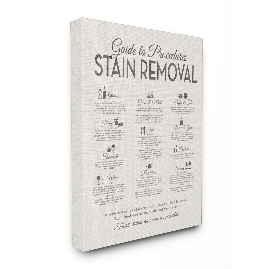 Stupell Home Decor Stain Removal Guide Canvas Wall Art