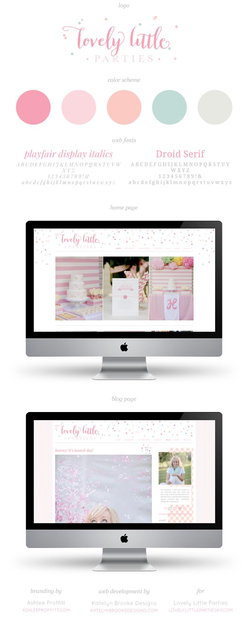 Lovely Little Parties Business Branding Design Web Design Trends Blog Design