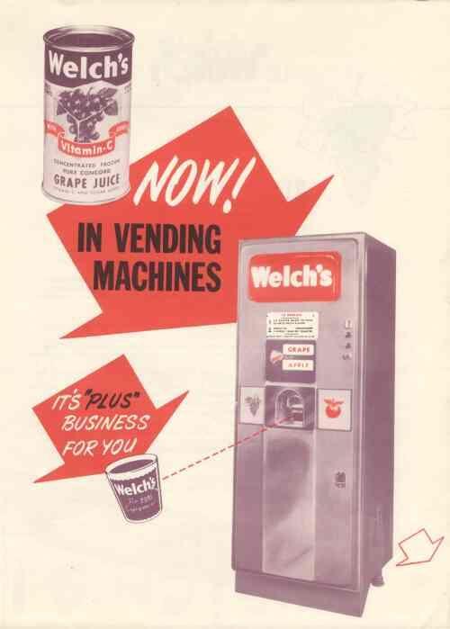 Welch S Juice Vending Machine Dispensed Grape And Apple Juice