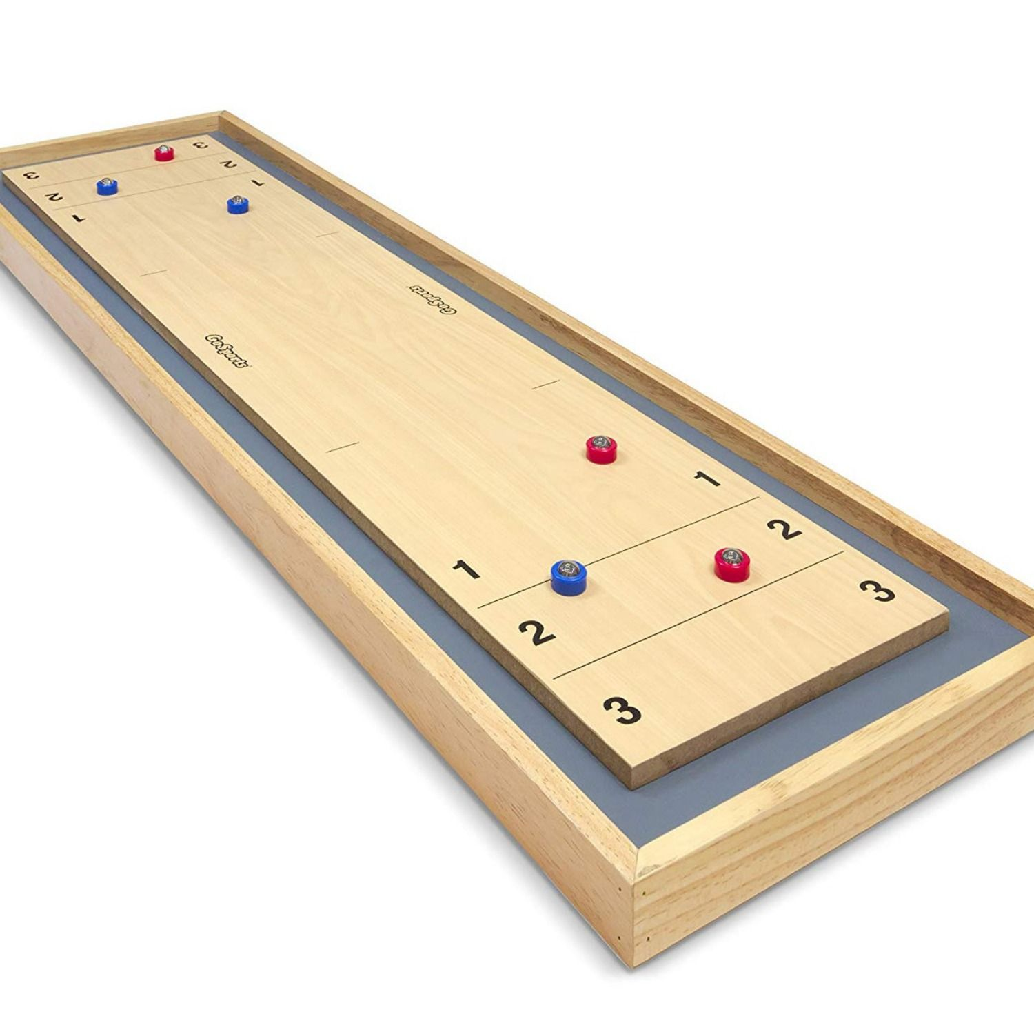 GoSports Shuffleboard & Curling 2in1 Table Game (With