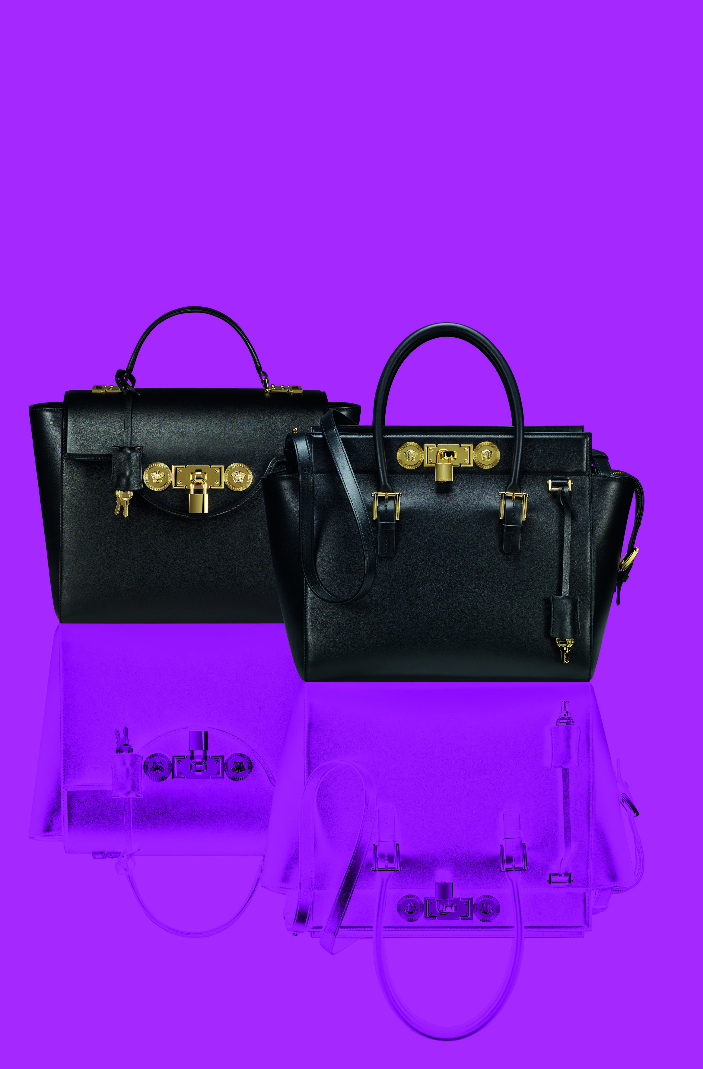 9b245811ba Pamper yourself with contemporary sophistication choosing the Versace Lock Signature  Bag.  VersaceSignatureBag  Versace
