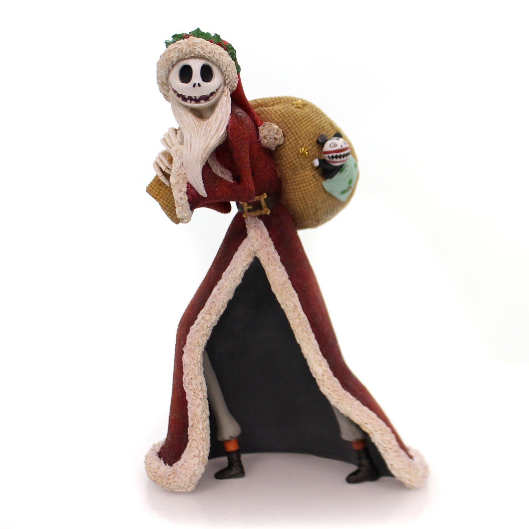 Disney Santa Jack Skellington Christmas Figurine | Jack skellington ...