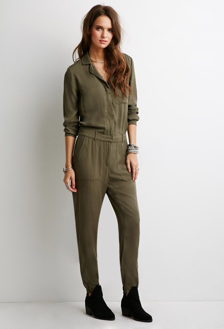 96079882b3a6 Utility Jumpsuit - Jumpsuits   Playsuits - 2000054283 - Forever 21 ...